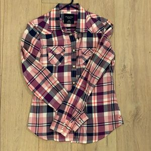 Women's American Eagle flannel button down
